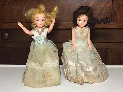 """Vintage Reliable brand plastic dolls 8"""" tall Made in Canada"""