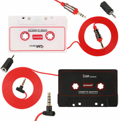 3.5mm Car MP3 Cassette Adapter MP3 Tape Player for Phones for Car Audio Stereo