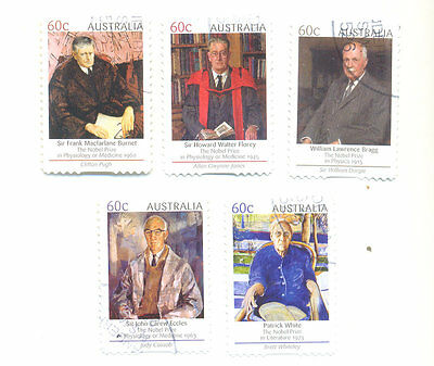 Nobel Prize Winners - Australia-(self-adhesive set ) fine used-Science