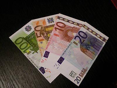 4,320€ = 96 X Unreal  Fake Euro Poker Game Play Money Banknotes Bills Monopoly