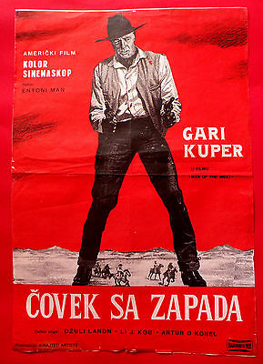 Man Of The West 1958 Gary Cooper Julia London Anthony Mann Exyu Movie Poster