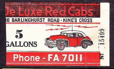 Cinderella: De Luxe Red Cabs 5 Gallons Petrol Ration Coupon????