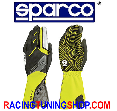 Guanti Kart Sparco 2017 Motion Giallo Fluo Tg 8 Karting Gloves Handschuhe Yello