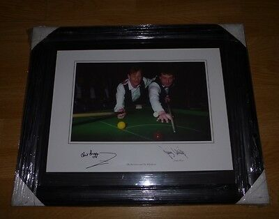 "Genuine Alex Higgins & Jimmy White Signed Framed Photo 16"" X 12"" From 1990"