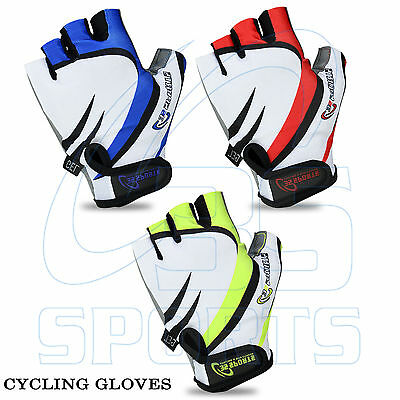 Men Cycling Gloves Bike Half Finger Gel Padded Fingerless Sports New