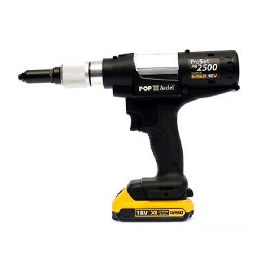 POP BRAND CORDLESS RIVETER, POP RIVET GUN BATTERY OPERATED 18V  2.4mmm - 4.8mm