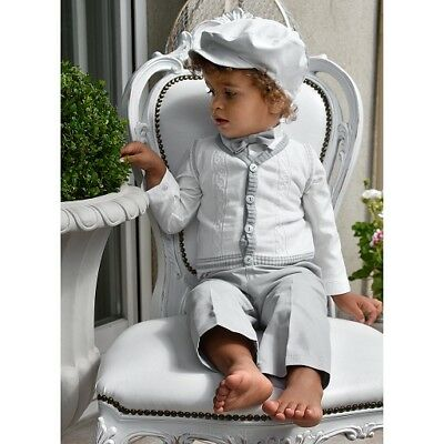 Baby Boy Grey Christening Special Occasion Party Outfit Smart Suit 5pcs Pageboy
