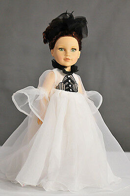 Handmade White Lace Long Dress fit for 18 Inch American Girl Doll 2017