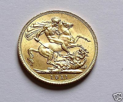 1911 George V Canada Mint Full Gold Sovereign