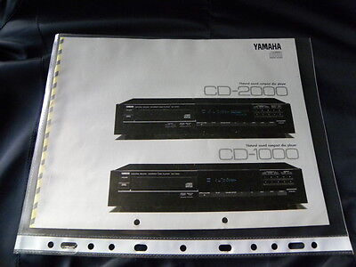 Yamaha CD-1000/ CD-2000 Original brochure New