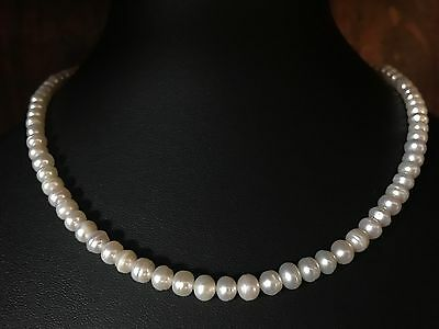 Genuine Cultured Ringed Freshwater Pearl Necklace Bracelet Diamond Clasp 678/682