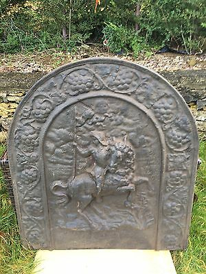 Old Cast Iron Backplate Fire Back For Fire Grate Open Fire Inglenook