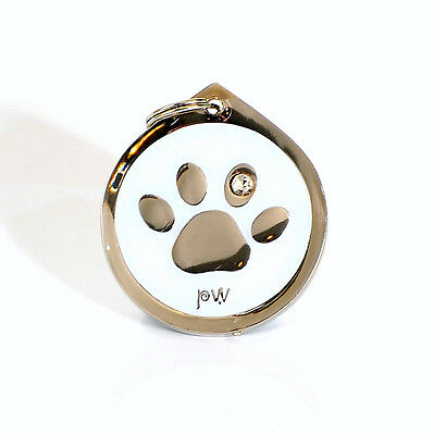 Quality Poochiwoochi Pet Dog ID Tag PAW Design Engraving Option FREE UK Delivery