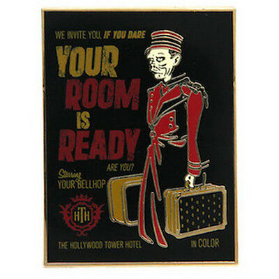 Disney Parks Hollywood Hotel Tower of Terror Your Room is Ready Pin Bellhop