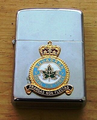 1970 Royal Air Force 5 Squadron Zippo Lighter Nearly New