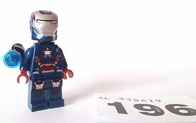Lego Minifigure Superheroes Iron Patriot   30168 Gun Mounting System man rare