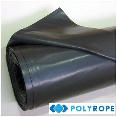 Damp Proof Black Polythene Sheeting 4mx25m Roll DPM 200Mu Cover CE Approved