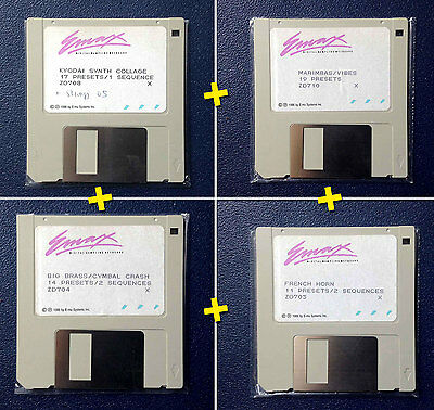EMU EMAX 1 - Lot / Pack - 4 Original Soundbank Floppy Disks - Collector