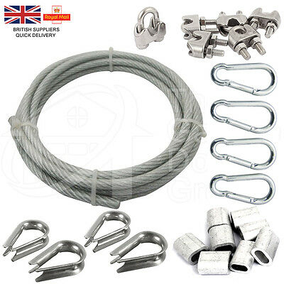 Nylon Steel Wire Rope Cable Replacement Ferrules Thimbles Gym Machine Kit Fixing