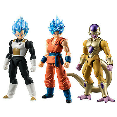Bandai Dragonball Z Shodo 2 SSGSS Goku, SSGSS Vegeta, Gold Frieza IN STOCK USA
