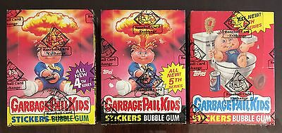 1986 Garbage Pail Kids 4th, 5th, & 6th Series BBCE AUTHENTIC BOXES-NICE LOT! TWT