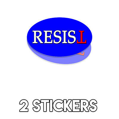 Resist Blue Oval - Anti Trump Bumper Sticker Decal Not My President - 2 Pack DND