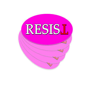 Resist PINK Oval - Anti Trump Bumper Sticker Decal Not My President - 5 Pack DND