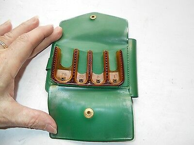 Vintage Lady Frances Green Vinyl Wallet Coin Change Purse With coin slots