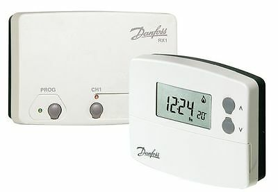 Danfoss TP5000Si-RF+RX1 5/2 Day Wireless Programmable Thermostat & Receiver