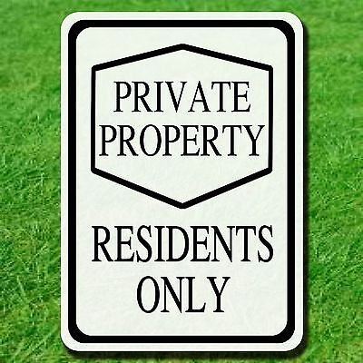 "Aluminum 10"" By 14"" Private Property Sign No Tresspassing Security Warning"