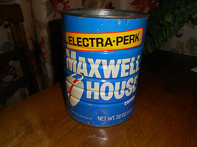 Vintage Maxwell House Coffee Can Tin 2 LB Electric Perk