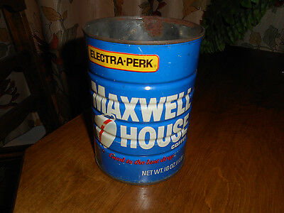 Vintage Maxwell House Coffee Can Tin 1 LB Electric Perk