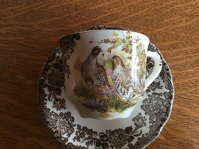 Royal Worcester Palissy Game Series Cup & Saucer