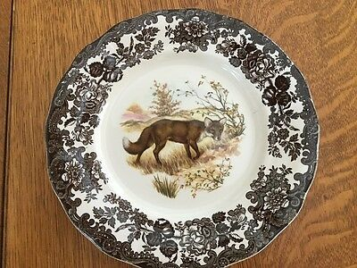 Royal Worcester Palissy  Game Series Fox Dinner Plates