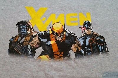All New X-Men Large T-Shirt Comic Book Heather Gray Wolverine New