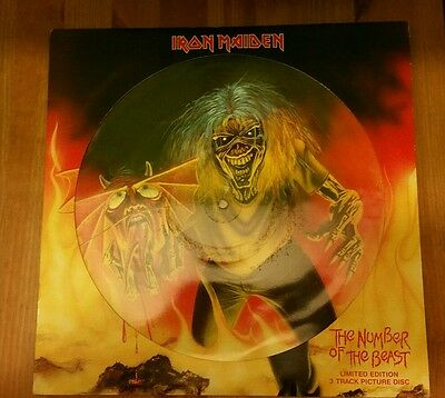 "IRON MAIDEN -The Number Of The Beast- Rare UK 12"" Picture Disc (Vinyl Record)"