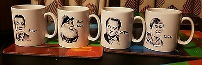 Set of 4 Only Fools and Horses black and white mugs