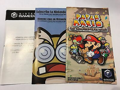 Game Manual and Inserts Only - NO GAME - Paper Mario Gamecube