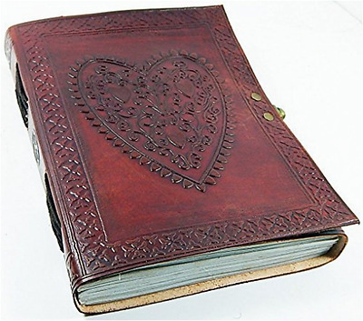 Handmade Retro Heart Leather Personal Journal Diary Planner Notebook w/ Lock New