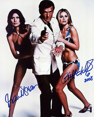 Britt Ekland & Maud Adams - James Bond - Signed Autograph REPRINT