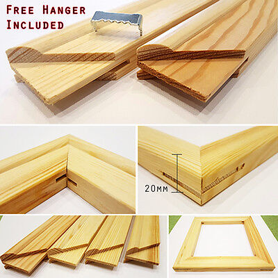 Canvas Frames, Canvas Stretcher Bars, Wood 20mm Thick, Best in UK - Sold By Pair