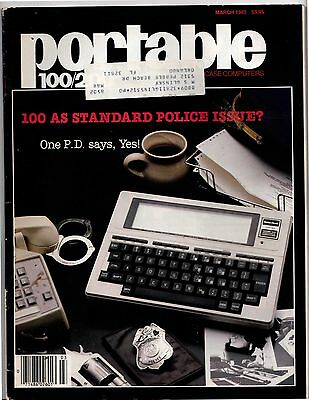Vintage Tandy Portable 100 / 200 Magazine March 1985  Standard Police Issue