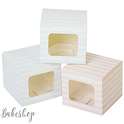 1, 4, 6 OR 12 Hole Cupcake Fairy CAKE Muffin Boxes with Clear Windows