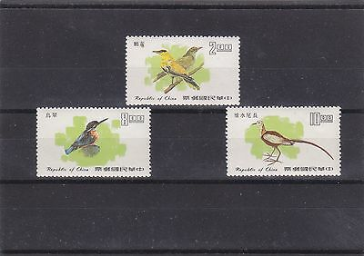 "Taiwan, 1977, ""taiwan Birds"" Stamp Set Mint Nh. Fresh Condition"