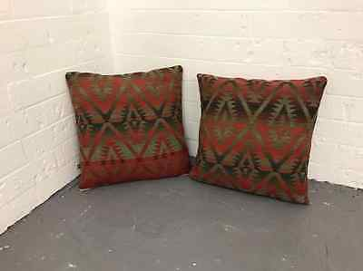 Large Ralph Lauren Tribal Fair 100% Wool Scatter Cushions stunning Chic gorgeous