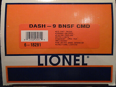 Empty Box For Lionel #6-18281 Dash-9 Bnsf Command Equipped