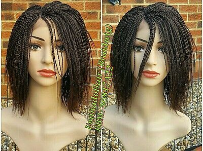 PRE-ORDER.Hand Braided,WHOLELACE wig,12inches.Tiny Twist,Braidwig.choose colour