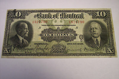 1923 Bank Of Montreal Canada $ 10 Ten Dollars 505-56-04 Williams-Taylor Meredith