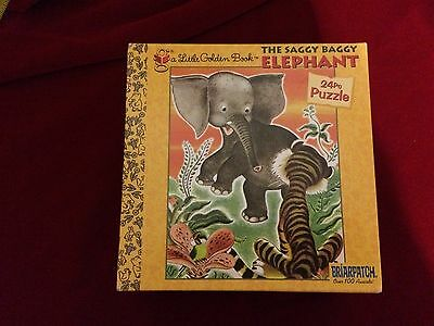 GIFT IDEA Saggy Baggy Elephant MADE IN USA 24 piece puzzle Little Golden Book