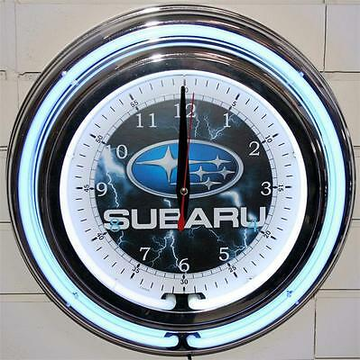 Subaru Clock Neon New